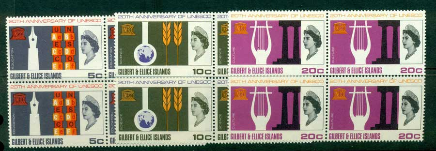 Gilbert & Ellice Is 1966 UNESCO Block 4 MUH (lot23425)