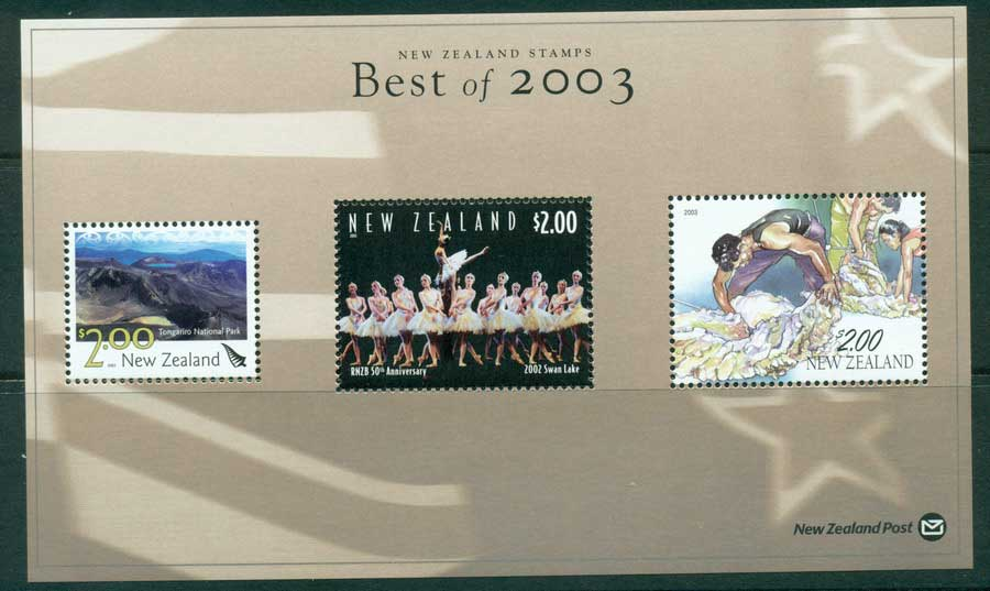 "New Zealand 2003 Best of Stamp Points MS ""Swan Lake"" (1/3) MUH lot23428"