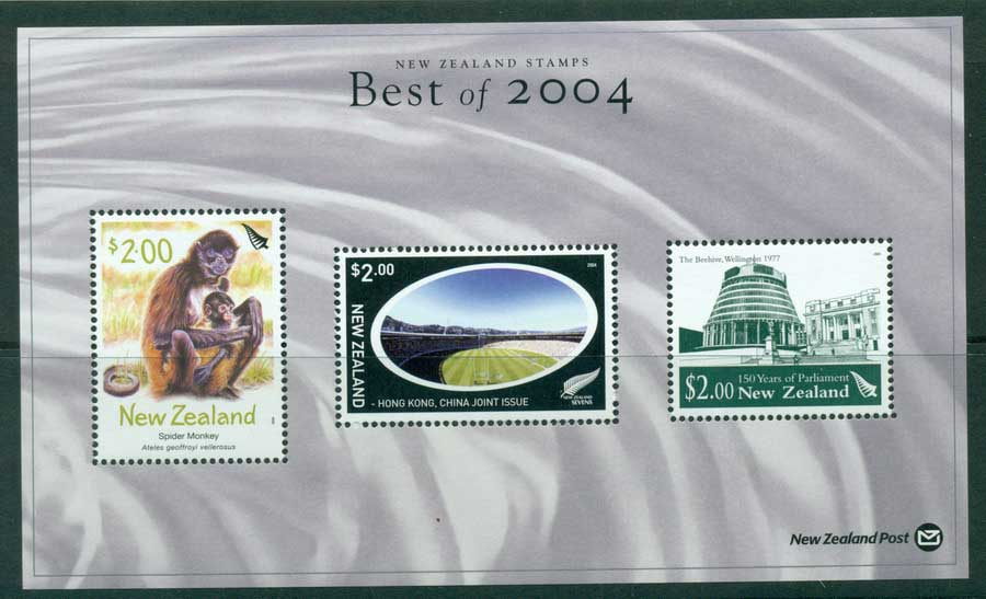 "New Zealand 2004 Best of Stamp Points MS ""Spider Monkey"" (1/3) MUH lot23430"