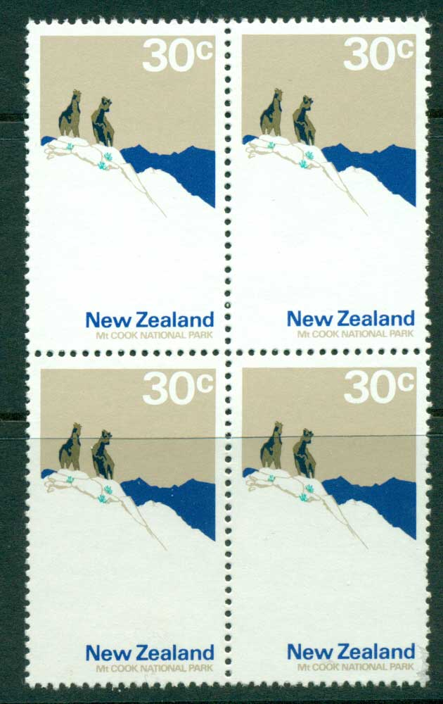 New Zealand 1970-71 30c Mt Cook Block 4 MUH Lot23442