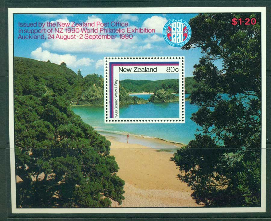 New Zealand 1990 World Philatelic Ex Auckland MS Lot23454