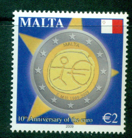 Malta 2009 Euro 10th Anniv MUH Lot23586