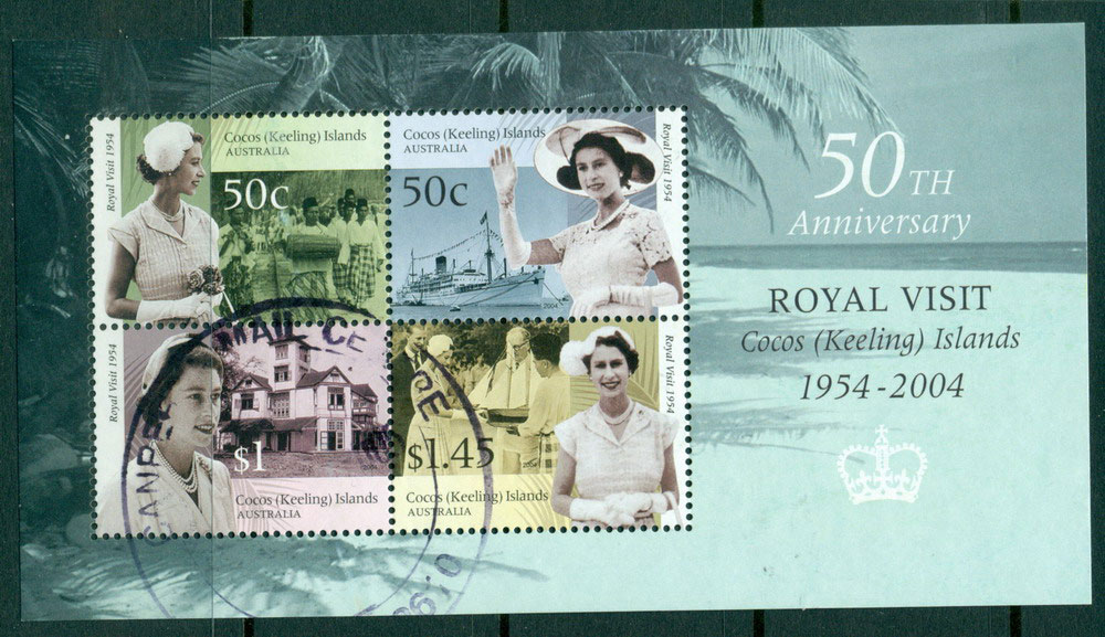 Cocos Keeling is 2004 Royal Visit MS FU Lot23983