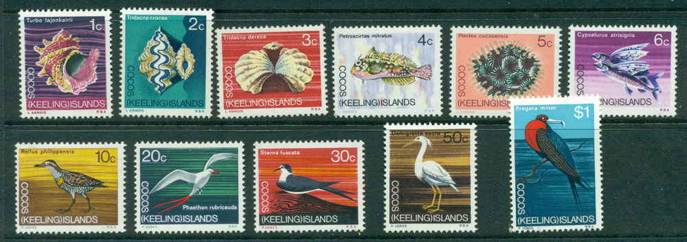 Cocos Keeling Is 1969 Fish/Birds MUH Lot23992