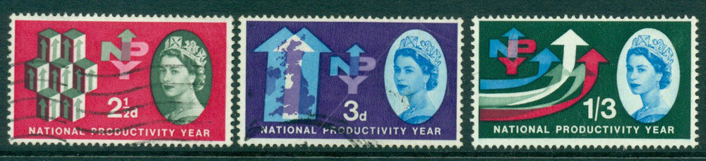 GB 1962 National Productivity year FU Lot24106