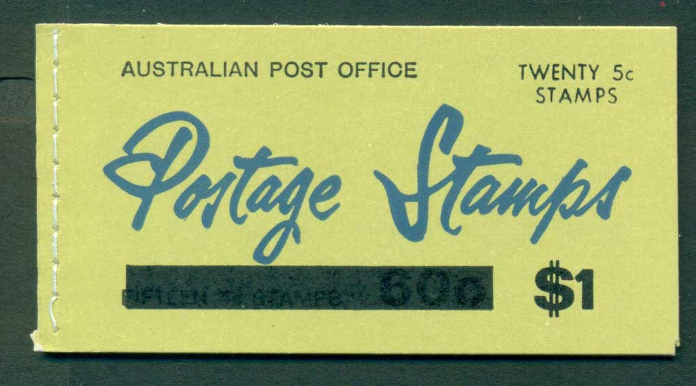 Australia 1967 Booklet $1 bar B109Bf Ed. V67/1 CTO Melbourne GPO Lot25913