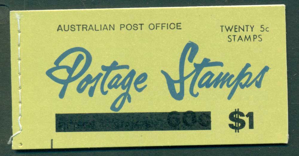 Australia 1967 Booklet $1 bar B112Be Ed. V67/1 Mint Lot25916