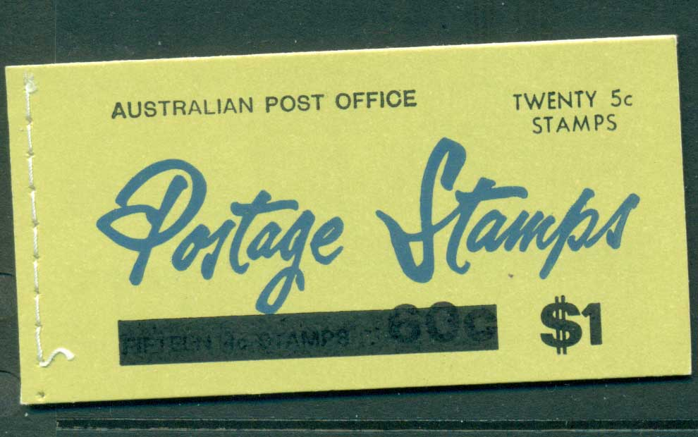 Australia 1967 Booklet $1 bar B112Bf Ed. V67/1 CTO Melbourne GPO Lot25919
