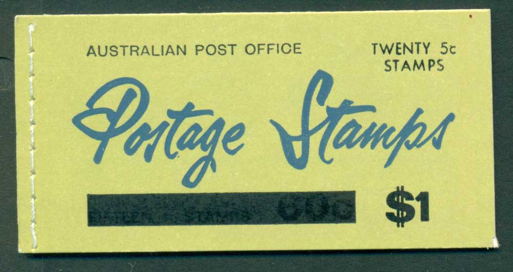 Australia 1967 Booklet $1 bar B108Bf Ed. V67/1 Mint Lot25925