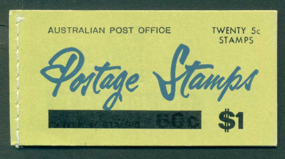 Australia 1967 Booklet $1 bar B107Bf Ed. V67/1 CTO Melbourne GPO Lot25937