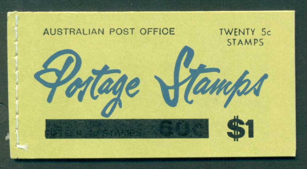 Australia 1967 Booklet $1 bar B107Bf Ed. V67/1 Mint Lot25938