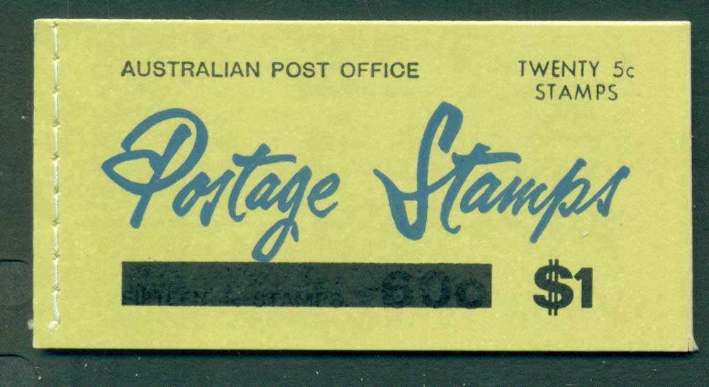 Australia 1967 Booklet $1 bar B108Bd Ed. V67/1 CTO Melbourne GPO Lot25939