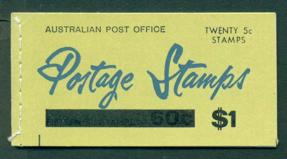 Australia 1967 Booklet $1 bar B108Be Ed. V67/1 CTO Melbourne GPO Lot25940