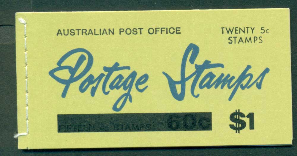 Australia 1967 Booklet $1 bar B108Bf Ed. V67/1 CTO Melbourne GPO Lot25941