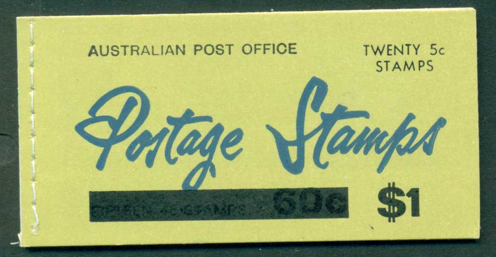 Australia 1967 Booklet $1 bar B112Bd Ed. V67/1 CTO Melbourne GPO Lot25942