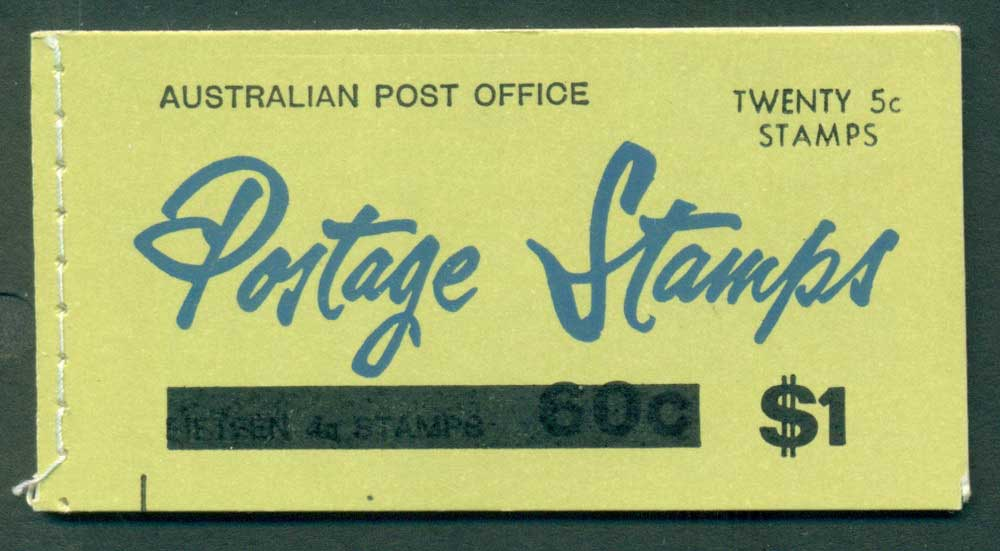 Australia 1967 Booklet $1 bar B109Be Ed. V67/1 Mint Lot25946