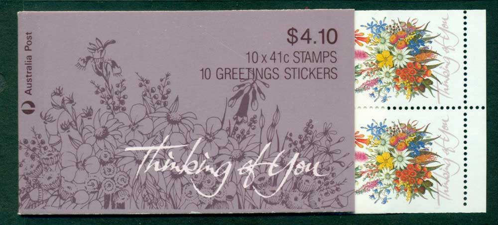 Australia 1990 $4.10 Thinking of You B162 Booklet Lot26004