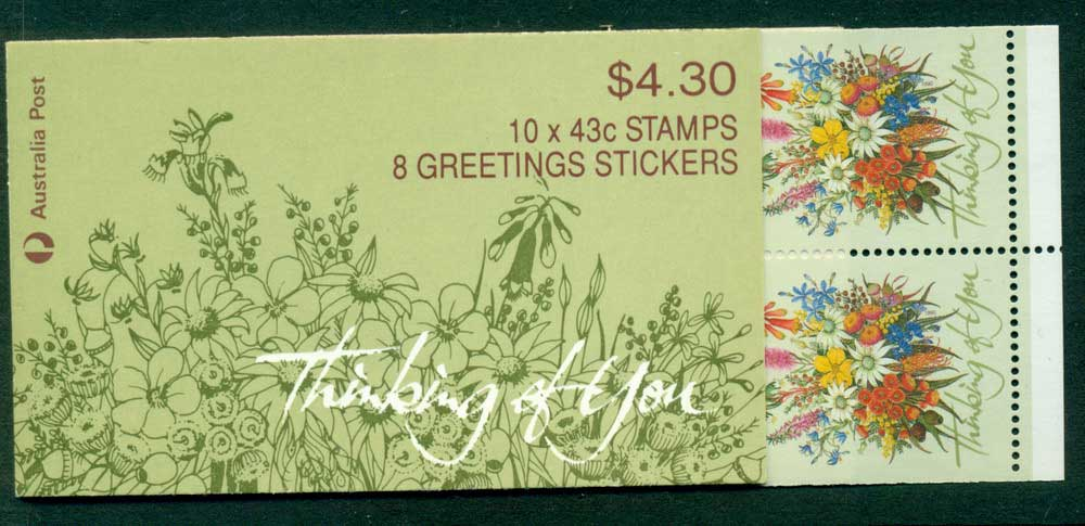 Australia 1990 $4.30 Thinking of You B164B 2K Booklet Lot26007