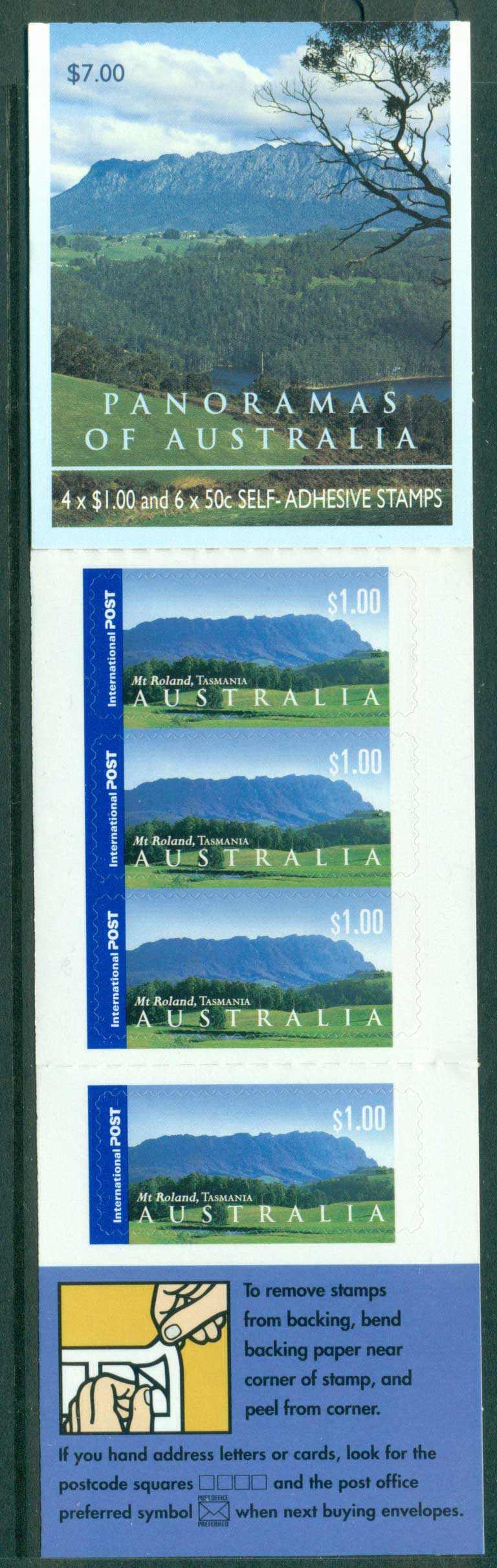Australia 2002 $7.00 Panoramas B245 Philatelic Booklet Lot26087