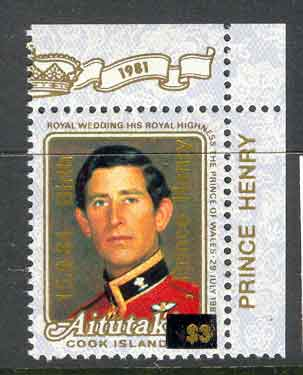 Aitutaki 1984 Royal Birth Prince Henry Lot2640