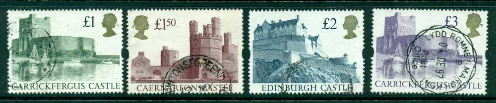 GB 1992-5 �1, 1.5,2 & �3 Syncopated Castles FU Lot26466