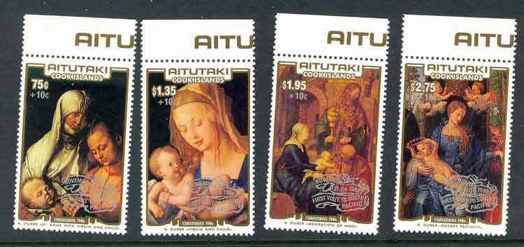 Aitutaki 1986 Xmas + Tax + Opt MUH Lot2655