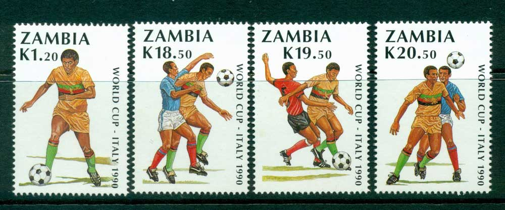 Zambia 1990 World Cup Soccer MUH Lot26947