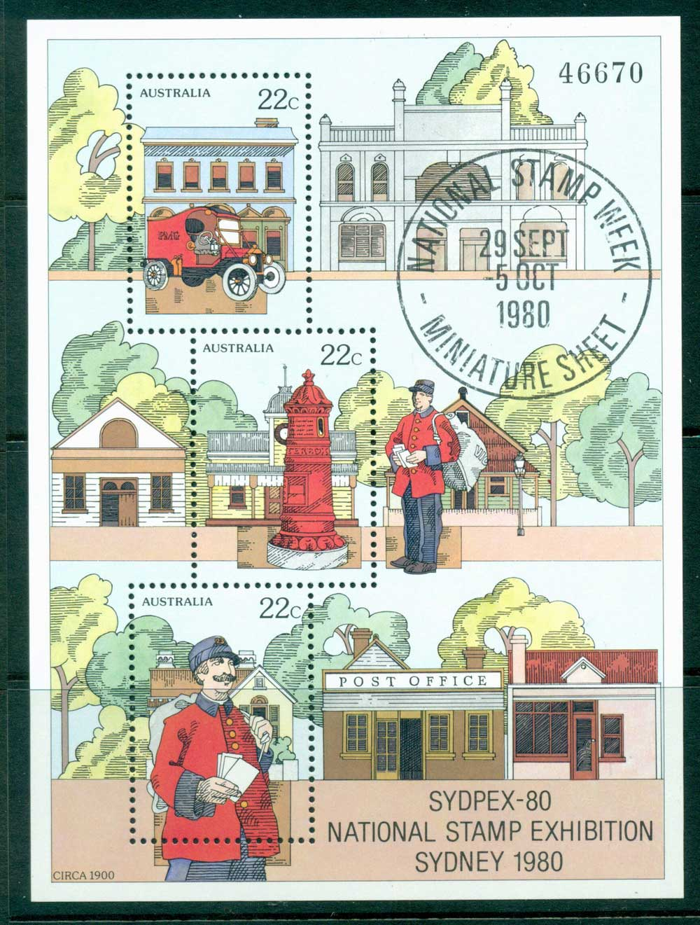 Australia 1980 National Stamp Week MS MUH Lot27048