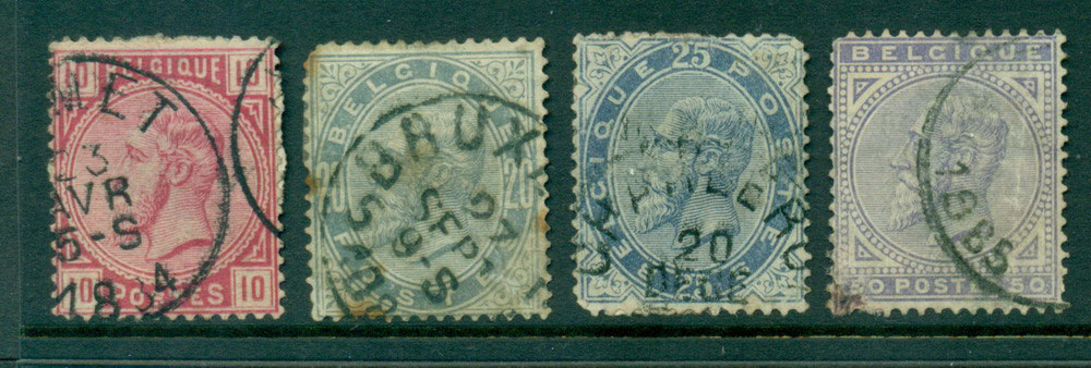 Belgium 1883 10c-50c , faults FU Lot27125
