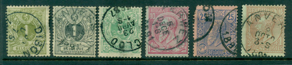 Belgium 1884-5 1c-1F, faults FU Lot27126