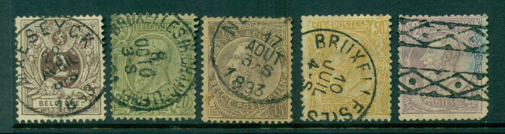 Belgium 1886-91 2c-2F faults FU Lot27127