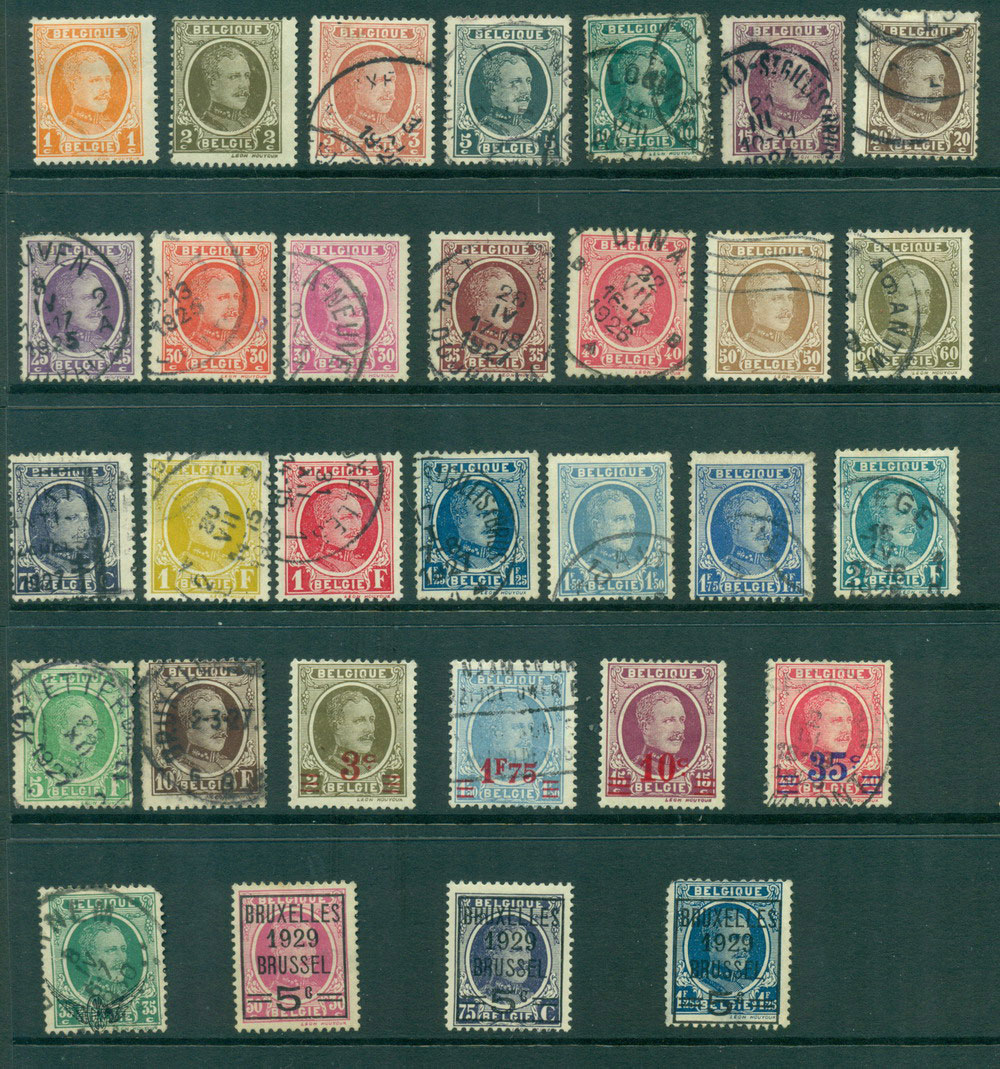 Belgium 1922-29 King Albert Asst inc Opts FU (31) Lot27142