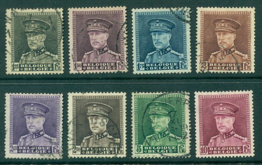 Belgium 1931-2 King Albert 1.25F-5F FU, 10F MH Lot27152