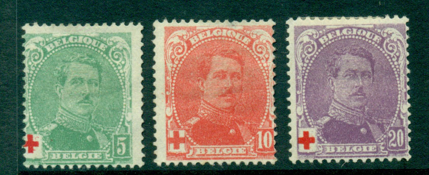 Belgium 1914 King Albert 1 Charity MHH Lot27180