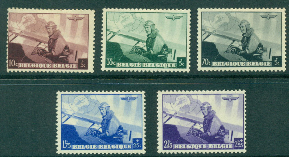 Belgium 1938 King Leopold III in Military Plane MH Lot27212