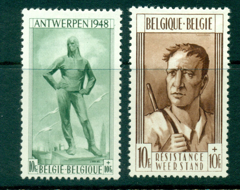 Belgium 1948 Antwerp & Liege Monuments MH Lot27287