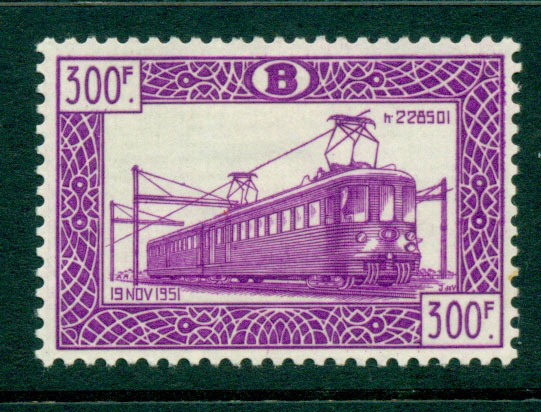 Belgium 1952 300f Electric Locomotive MLH Lot27312