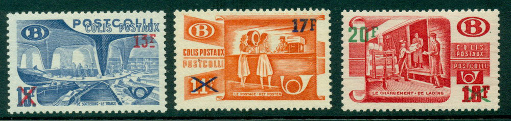 Belgium 1953 Railway Sorting Opts MLH Lot27314