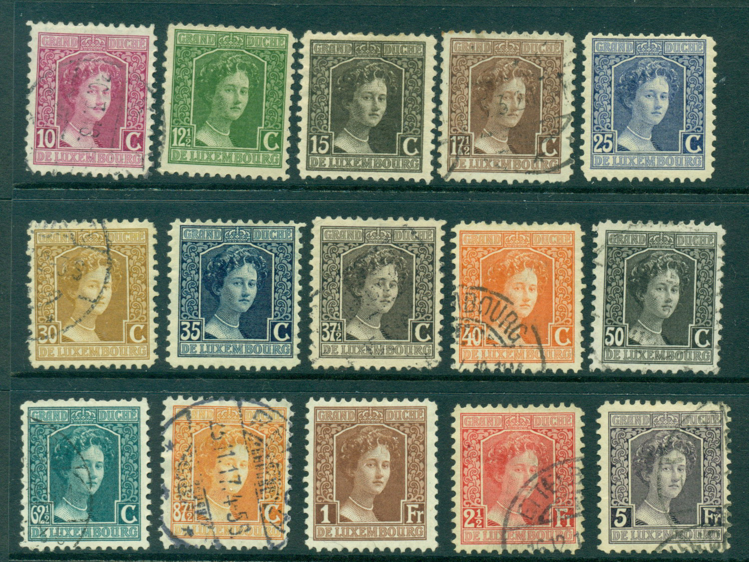 Luxembourg 1914-17 Grand Duchess Marie Adelaide MH/FU Lot27414