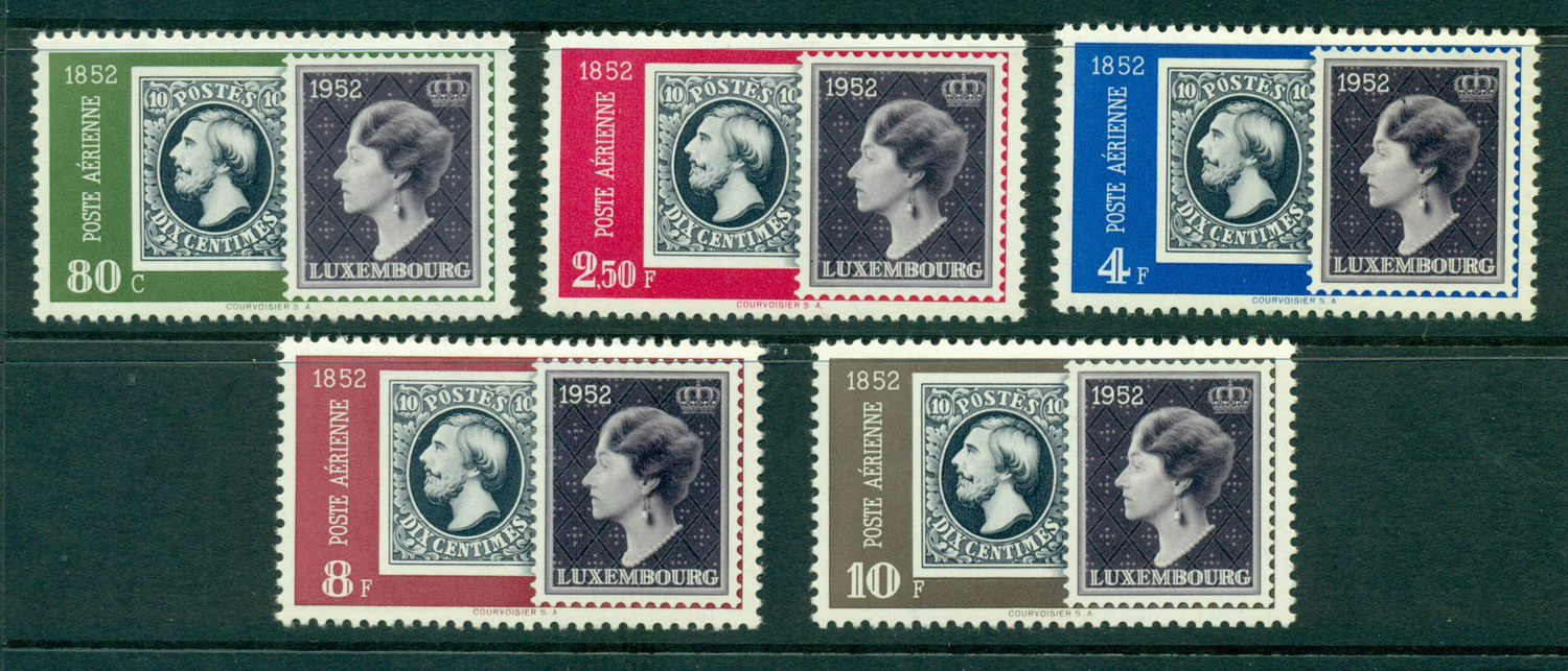 Luxembourg 1952 Air Post Stamp Centenary MLH Lot27488