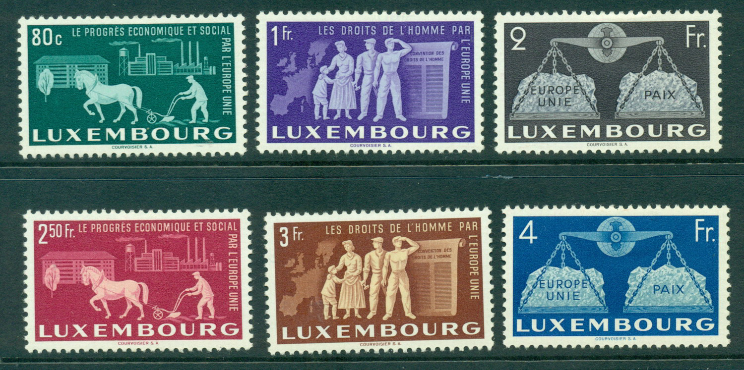 Luxembourg 1951 United Europe MLH Lot27490