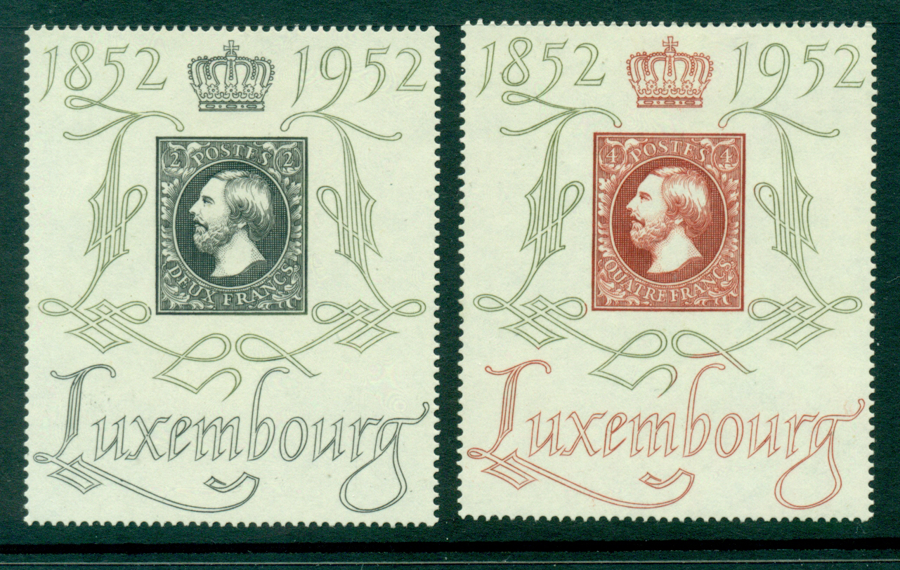 Luxembourg 1952 Grand Duke William III Stamp Centenary MLH Lot27492