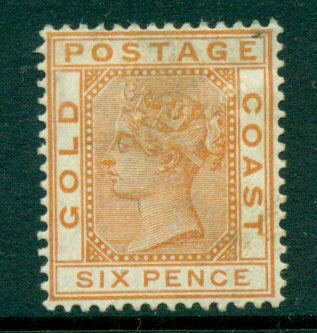 Gold Coast 1884-91 6d orange brown SG#17a MH Lot27513