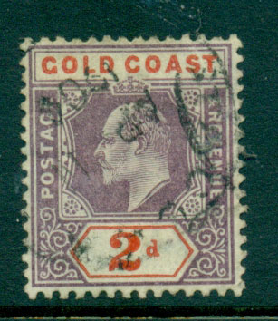 Gold Coast 1902 2d dull mauve & orange Red SG #40 FU Lot27527