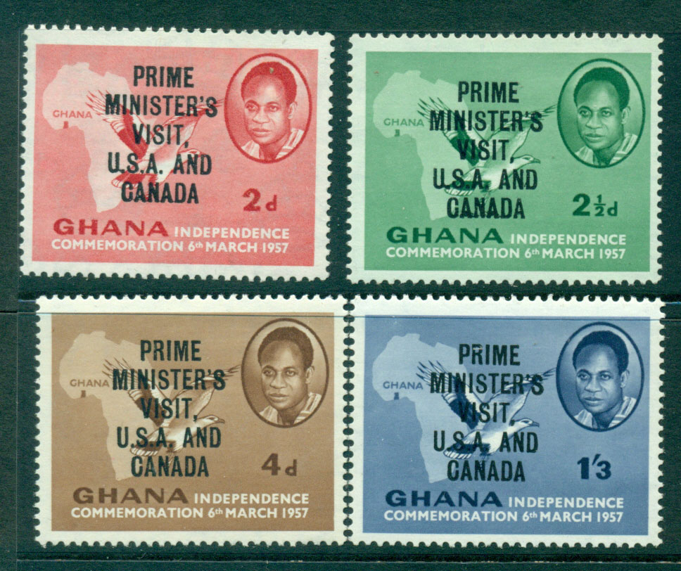 Ghana 1958 Prime Ministers Visit Opt MH Lot27556