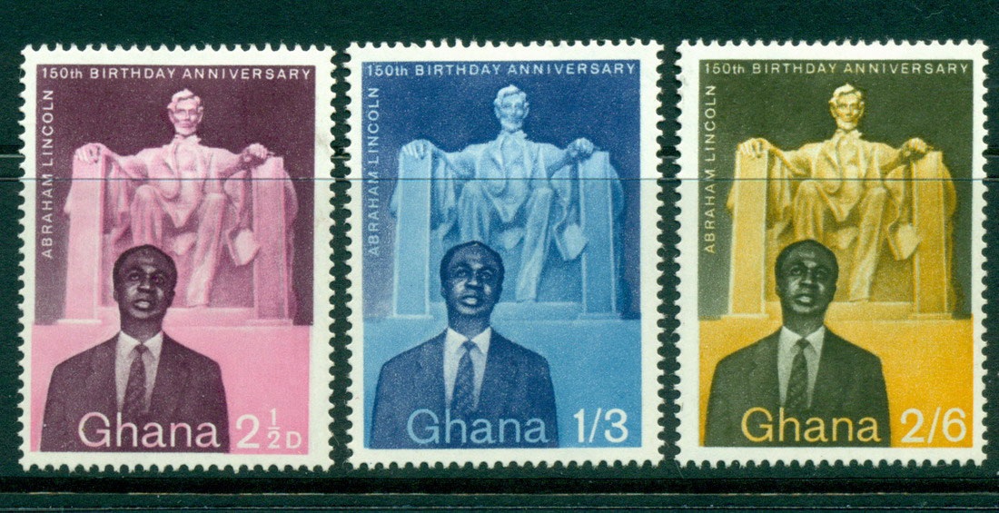 Ghana 1959 Lincoln's Birth Sesqui MH Lot27559