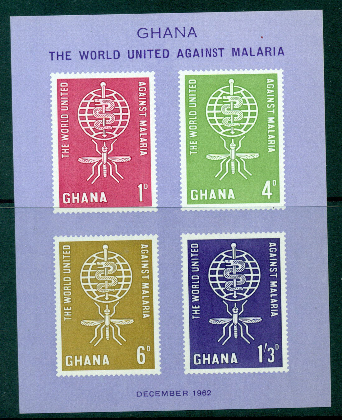 Ghana 1962 Malaria Eradication MS MUH Lot27596