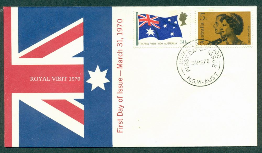 Australia 1970 Royal Visit Unaddressed FDC Lot27734