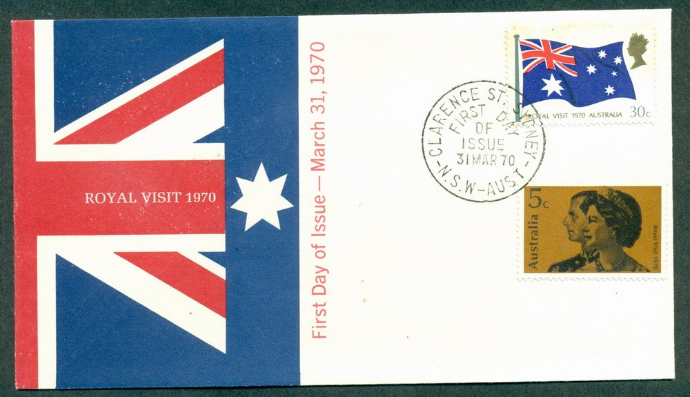 Australia 1970 Royal Visit Unaddressed (lt tones)FDC Lot27736