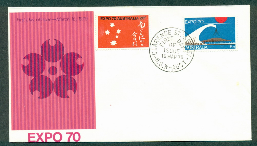 Australia 1970 Expo Unaddressed Clarence St FDC Lot27737